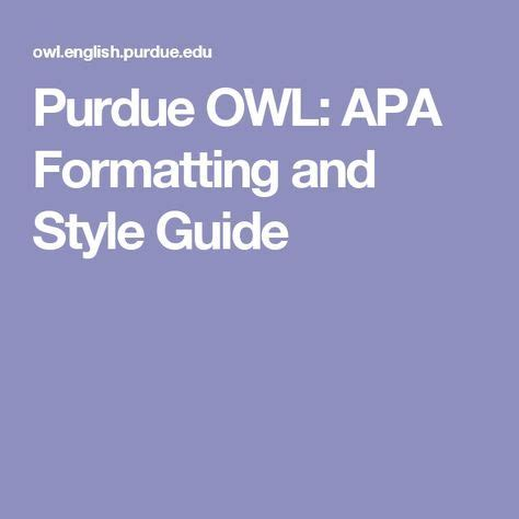 Welcome to the Purdue OWL - California State University